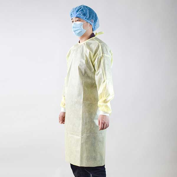 Medical use isolation gown  type D-Yellow